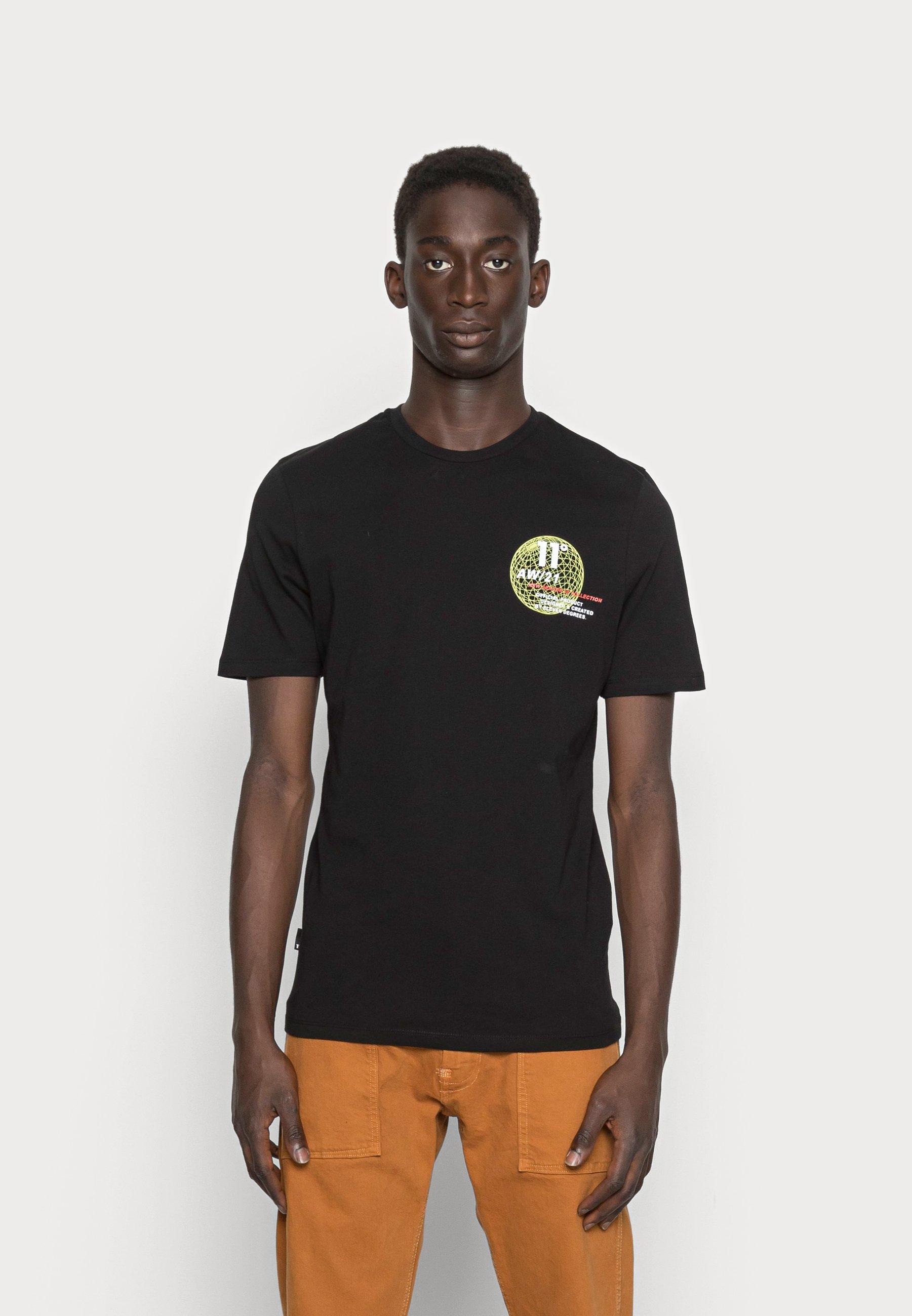 Men LINEAR GLOBE GRAPHIC - Print T-shirt