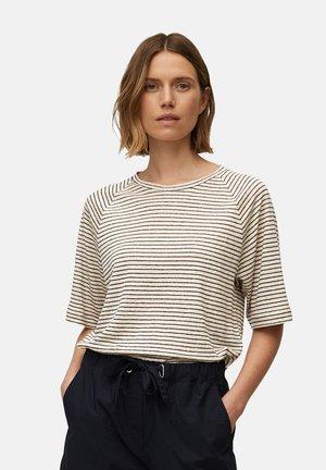 Print T-shirt - summer taupe