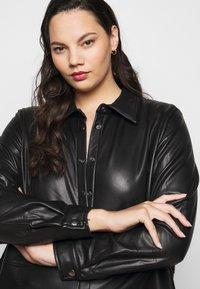 Kaffe Curve - VIMA SHIRT - Button-down blouse - black - 3