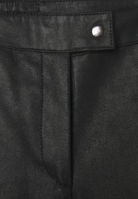 DEPECHE - CHINO - Leather trousers - black - 2
