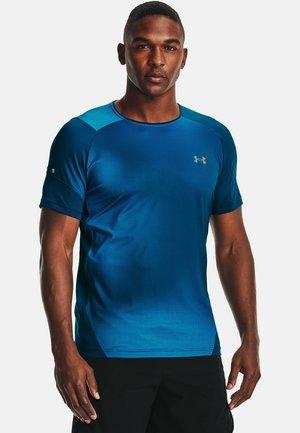 Print T-shirt - blue circuit
