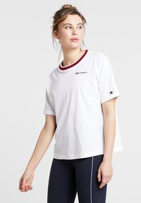Champion - SHORT SLEEVE - Camiseta estampada - white - 0