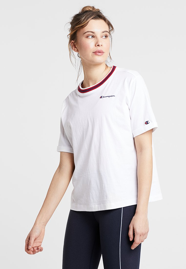 Champion - SHORT SLEEVE - Printtipaita - white