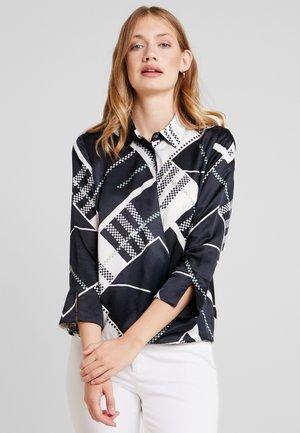 BLOUSE WRAP DETAIL KENT COLLAR - Button-down blouse - white