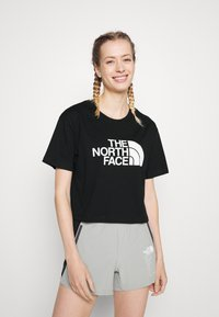 The North Face - CROPPED EASY TEE  - Print T-shirt - black - 0