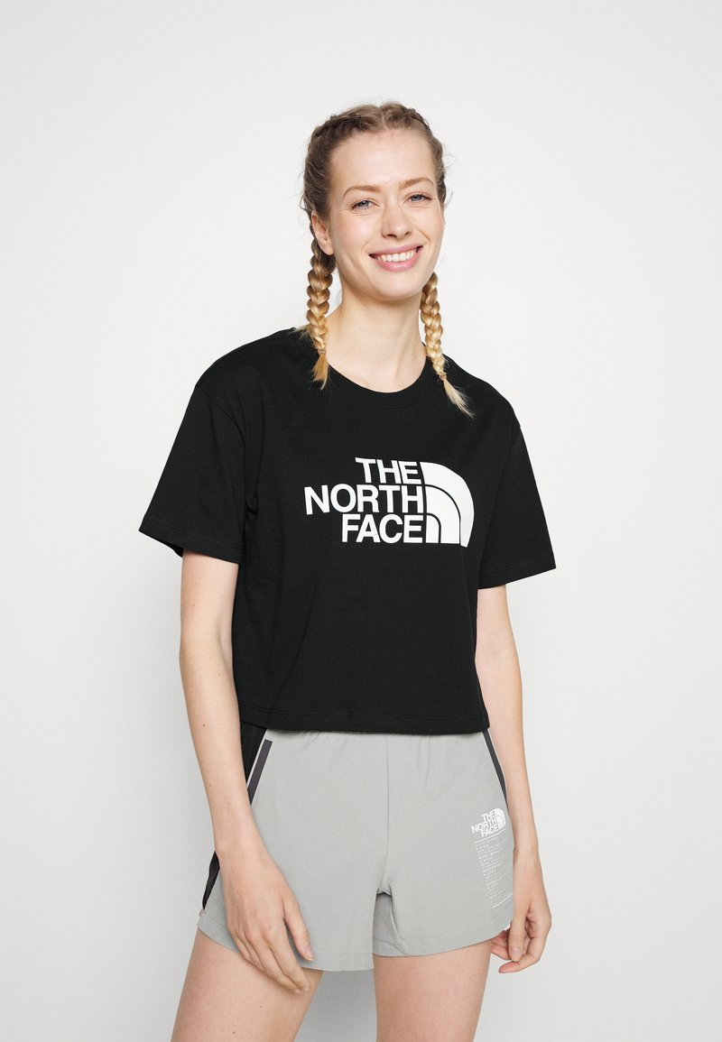 The North Face - CROPPED EASY TEE  - Print T-shirt - black