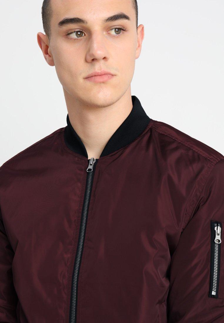 Perfect New Arrival Fashion Men's Clothing Urban Classics Bomber Jacket burgundy/black D1CPvuW8T bZDRvtDnz