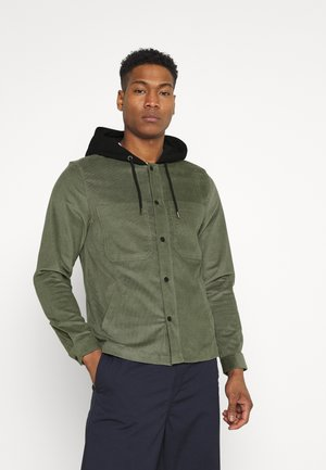 HOODED OVERSHIRT - Košile - khaki