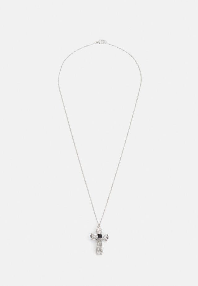 CHUNKY CROSS PENDANT NECKLACE - Necklace - silver-coloured