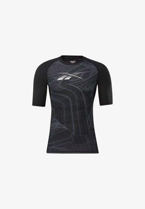 COMPRESSION - Print T-shirt - black