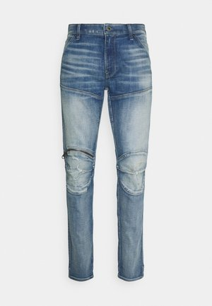 3D ZIP KNEE SKINNY - Jeans Skinny Fit - vintage cool aqua destroyed