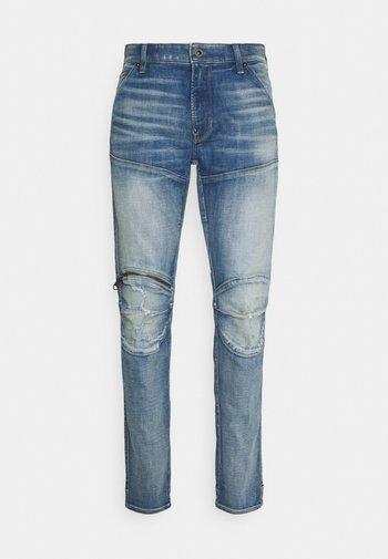 5620 3D ZIP KNEE SKINNY - Jeans Skinny Fit - vintage cool aqua destroyed