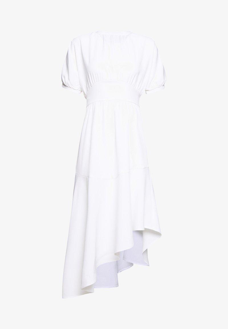 Lost Ink - BELTED ASYM HEM  - Robe en jersey - white