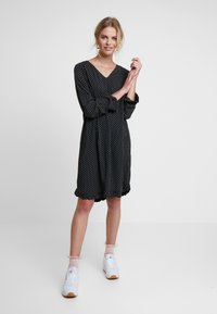 Saint Tropez - WOVEN DRESS ON KNEE - Day dress - black - 2