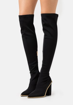 ROMY - High heeled boots - black/rosegold