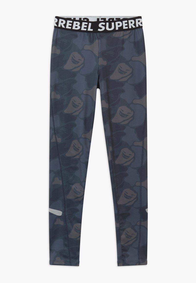 SuperRebel - SPORT RUNNING - Leggings - blue
