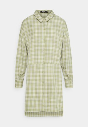 OVERSIZED DIP SHIRT DRESS  - Shirt dress - mint