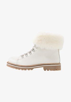 LACEN - Lace-up ankle boots - blanc