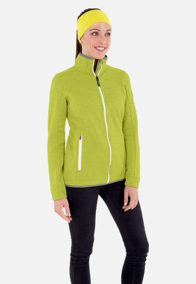 SINA - veste en sweat zippée - lime