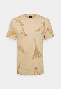HUF - LANDMARKS TEE - Print T-shirt - unbleached - 0