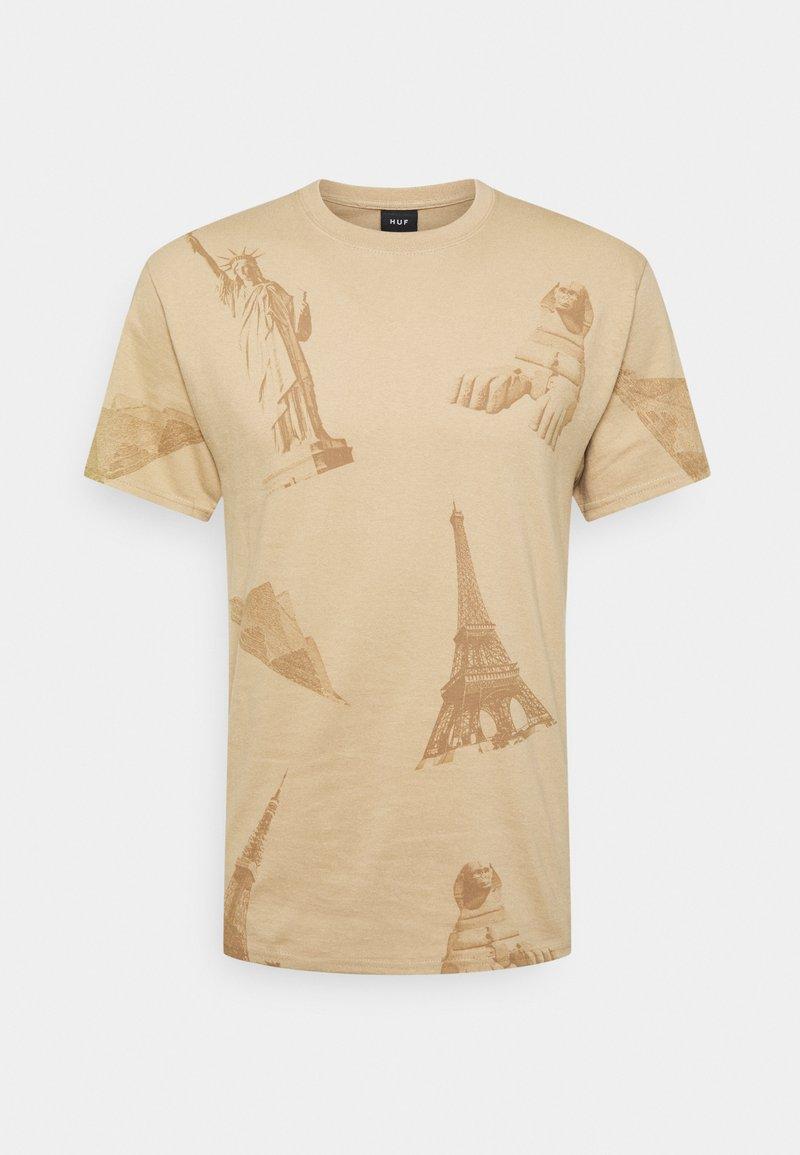 HUF - LANDMARKS TEE - Print T-shirt - unbleached