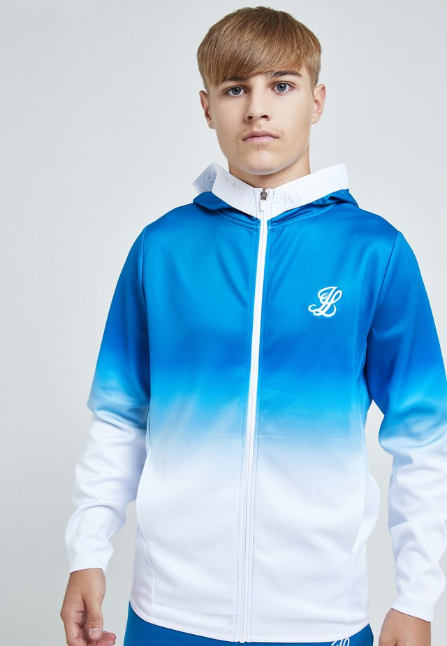 ILLUSIVE LONDON ELEVATE AGILITY - Zip-up sweatshirt - blue & white
