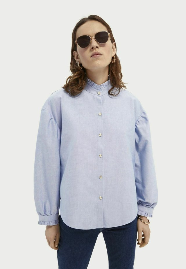 Button-down blouse - sky blue