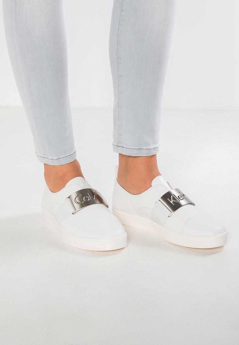 Calvin Klein - ILONA - Slip-ons - platinum white