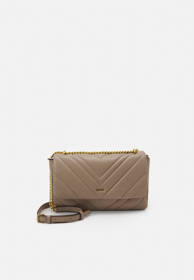 DKNY - VIVIAN DOUBLE SHOULDER FLAP  - Håndveske - toffee