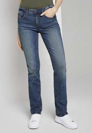 ALEXA - Straight leg jeans - stone wash denim