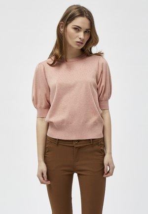 LIVA - T-shirt basic - powder rose melange
