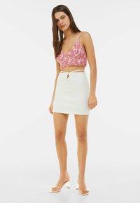 Bershka - Mini skirt - white - 1