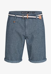 INDICODE JEANS - CASUAL FIT - Shorts - mottled blue - 4