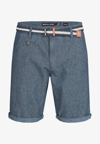 CASUAL FIT - Shorts - mottled blue