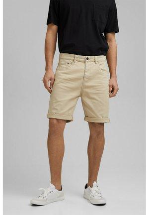 Denim shorts - light beige