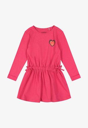 Korte jurk - dark pink