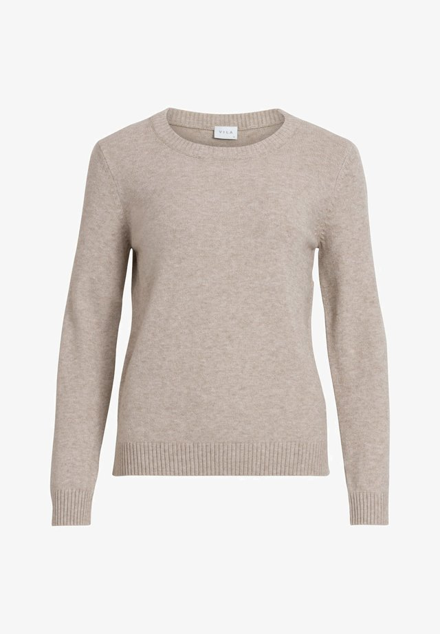 VIRIL O NECK - Strikpullover /Striktrøjer - natural melange