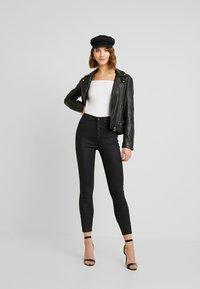Even&Odd - 2 PACK - Long sleeved top - white/black - 0