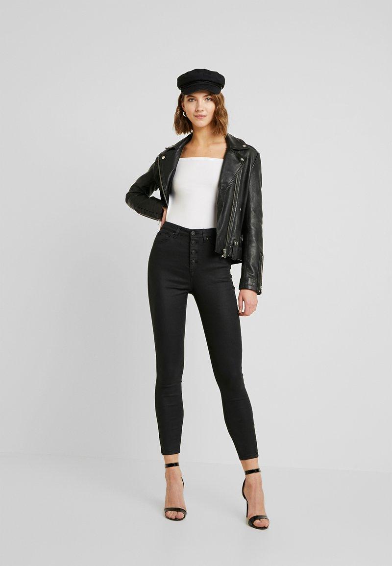 Even&Odd - 2 PACK - Long sleeved top - white/black