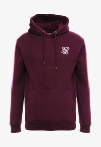 SIKSILK - MUSCLE FIT OVERHEAD HOODIE - Mikina s kapucí - burgundy - 3