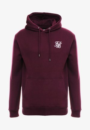 MUSCLE FIT OVERHEAD HOODIE - Sweat à capuche - burgundy
