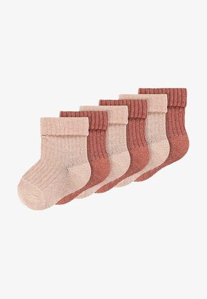Socks - adobe rose