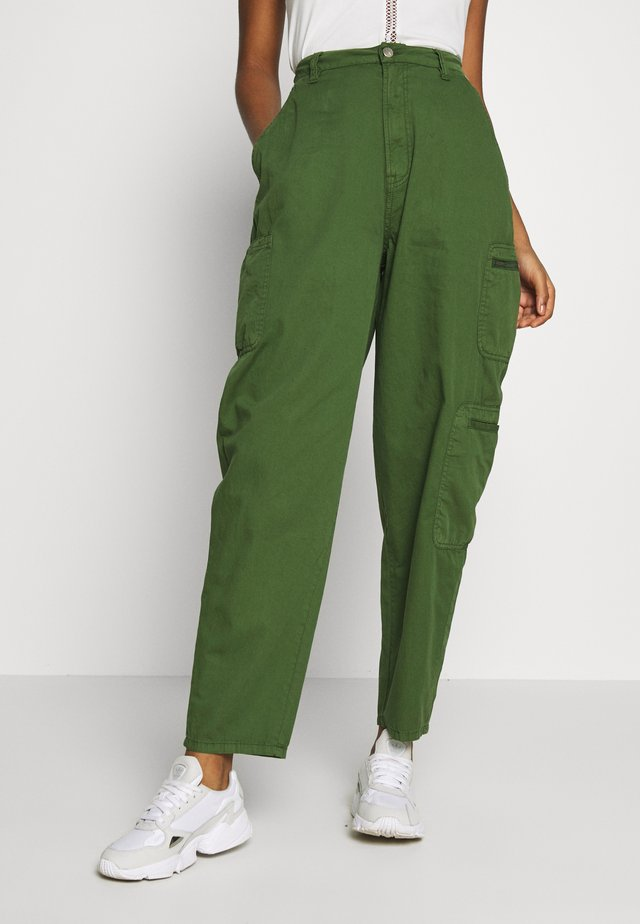 DUA LIPA x PEPE JEANS - Tygbyxor - khaki green