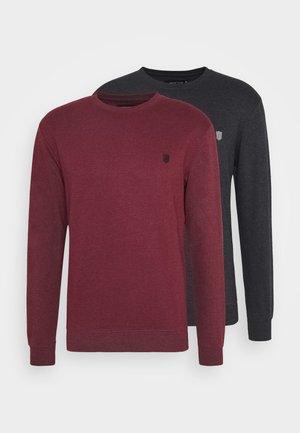EBACH 2 PACK - Sweatshirt - black/bordeaux