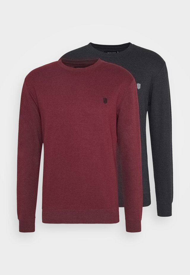 2 PACK - Sweatshirt - black/bordeaux