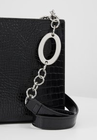 Topshop - SNAKEY BOXY SHOULDER - Across body bag - black - 6