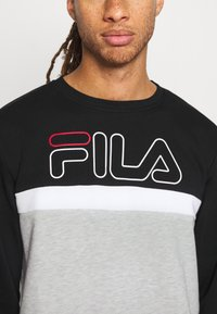 Fila - LAURUS CREW - Sweatshirt - light grey melange/black/bright white - 4