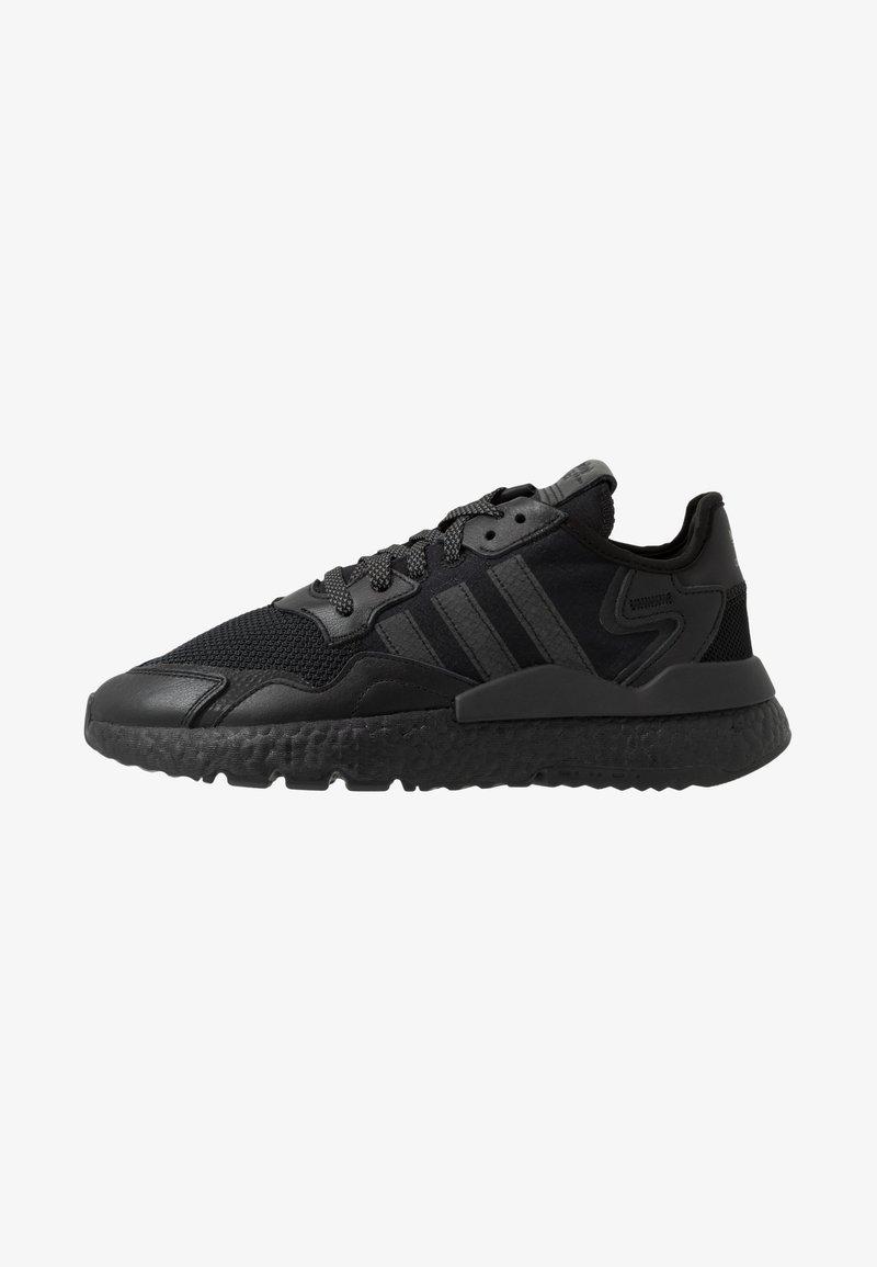 adidas Originals - NITE JOGGER - Matalavartiset tennarit - core black