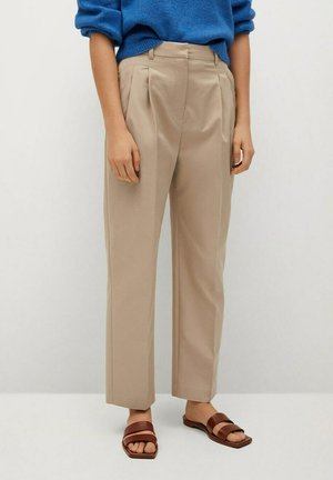 Trousers - open beige