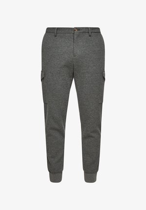 Pantalon cargo - dark grey melange